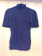 Black short sleeve Turtle Neck Top Size 8 Warehouse
