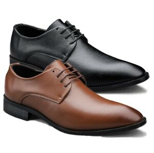 Mens Pointed toe Lace up Formal Party Dress Oxfords Business Outdoor Shoes Plus