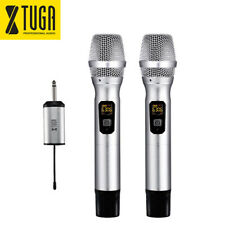 XTUGA 2 Metal Handheld UHF Wireless Microphone 25 Channel Portable Mini Receiver