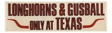1970's - 1980's Texas Longhorns Baseball Gusball Decal Cliff Gustafson