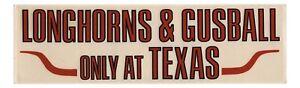 1970's - 1980's Texas Longhorns Baseball Gusball Decal Cliff Gustafson