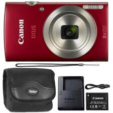 Canon IXUS 185 / ELPH 180 20MP Digital Camera Red and Camera Case