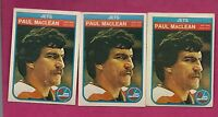 3 X 1982-83 OPC # 386 JETS PAUL MACLEAN  ROOKIE  CARD (INV# 9028)