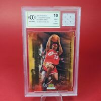 Lebron James ROOKIE GAME USED HS JERSEY PATCH LAKERS BCCG / BECKETT GEM MINT 10