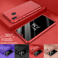 For Samsung Galaxy A10e A20 360° Shockproof Case + Screen Protector Hard Cover