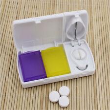 Tablet Pill Cutter Splitter Crusher Medicine Organizer Divider Travel Pill Case