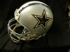 Dallas Cowboys Full Size Helmet Riddell numerous recert labels inside