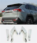 ABS Chrome Accessories Rear Tail Lamp Light Cover Trim For Toyota RAV4 2019-2021