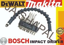 Flexiblepower tournevis bits & extension bar set bocsh makita dewalt impact driv