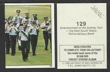 AUSTRALIA 1983 SCANLENS CRICKET STICKERS SERIES 2 - BAND AT SYDNEY TEST #129