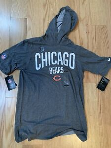 Nike NFL Chicago Bears Short Sleeve Tee Sz S BNWT AR7485-071 Grey Cotton Blend