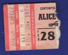 Alice Cooper Concert Ticket Stub Feb 28 1979 Checkerdome St Louis Free Shipping
