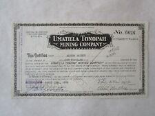 Umatilla Tonopah Mining Company  A Nevada Corporation