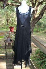 Nataya Women's Dress Size L sheer black age of Love fairy romantic victorian