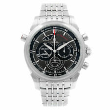 Cronógrafo Dial Negro Acero Omega Deville Reloj Automático 422.10.44.51.06.001