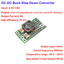 2PCS Mini DC-DC Adjustable Step-Down Module 5V-24V 12V to 1V-17V 5V 9V 12V 3A