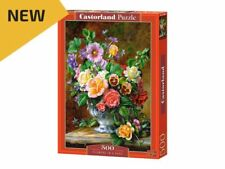 "Castorland Puzzle 500 Pieces - Flowers in a vase - 18.5""x13"" Sealed box B-52868"