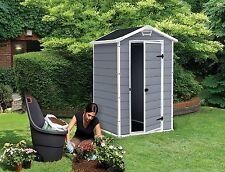 Keter Manor Shed 4 x 3 Grey Cream Beige Brown Outdoor Garden Storage Plastic