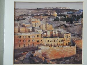 Beautiful Painting Vistas of Jerusalem Lev Khazin 1993