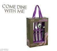 Come Dine With Me 16 Piece Stainless Steel Manhattan Cutlery Set Sand Blast Matt