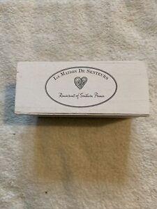 La Maison De Senteurs Wooden Box. Bathroom Storage, Soap Box. Shabby Chic French