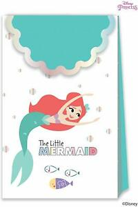 6 Disney Princess Little Mermaid Ariel Party Bags Girls Birthday Supplies Treat