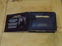 Master Replicas Darth Sidious .45 Scale Gold Lightsaber Hilt Boxed