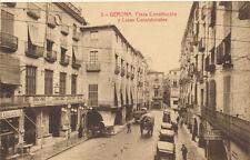 Tarjeta postal. 3. Gerona. Plaza Constitución y Casas consistoriales.