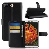 Huawei Y6 2018 / Honor 7A Custodia a Portafoglio Protettiva Cover wallet Case Ne