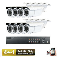 8Ch Hdmi Dvr Sony Cmos 2.6Mp 4-in Bullet 1080P Security Camera System System 1