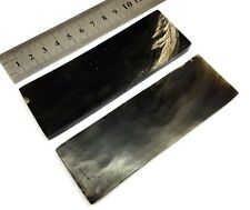 Pair of Buffalo HORN Scales for Knife Handle & Stick Making Crafts Archery BHSCL