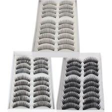 30 paires de naturels & réguliers longs faux cils cils des yeux