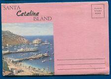 Santa Catalina Island California ca glass bottom boat postcard folder