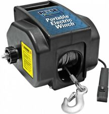 Portable Electric Winch Permanent or Hitch Ball Mount 29' Cable Remote Black