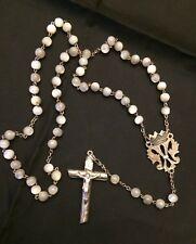 Ancien  chapelet perle de nacre et argent n 9