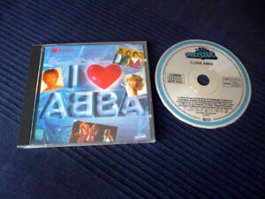 CD I Love ABBA - Polystar West-Germany 16 Best Of Greatest Hits FULL SILVER 198?