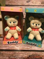 RUBBERTOYS ORSETTO TEDDY IN BOX MIB VINTAGE TOY