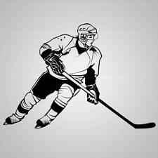 """Hockey Player Wall Decal, Hockey Wall Sticker, Hockey Decal - 32"""""""