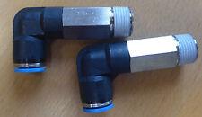 Set di 2 Festo qsll - 3/8-10 Pneumatico Push-in Connettore L -. numero di parte 153083