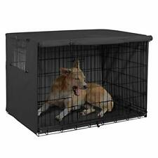 Black- Double Door Dog Crate Cover Kennel 36 42 48 Inches Wire Dog Crate