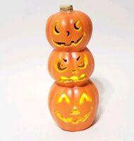 "Halloween Paper Magic Group Light Up Pumpkin Jack O Lantern Decoration 12"" 1998"