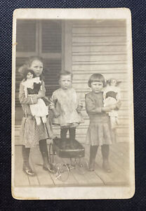 RPPC Real Picture Vintage Postcard of Children in Early 1900's
