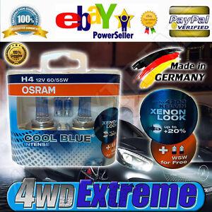 H4 OSRAM COOL BLUE INTENSE HEADLIGHT GLOBES 12V 60/55W 4200 KELVIN XENON LOOK