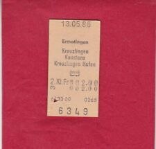 Bundesbahn - Bahnticket - Konstanz nach Kreuzlingen (Schweiz) - 1985
