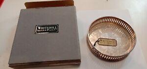 Whitehill Silver Wine Coaster