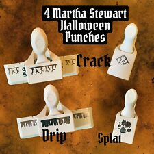 Martha Stewart Halloween Punches CRACK, DRIP, SPLAT Lot of 4 HTF RETIRED!!