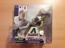 MLB McFarlane personaggio Randy Johnson Arizona Diamondbacks MAGLIA BIANCO Pinstripes