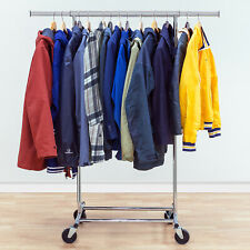 Tatkraft™  Darren Heavy Duty Commercial Clothes Rail Expandable with Wheels
