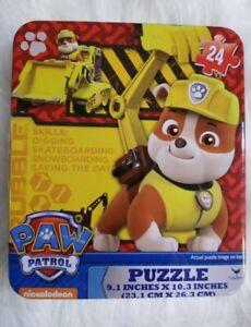 Nickelodeon PAW PATROL 24 Piece Jigsaw Puzzle in Tin Box, Brand New