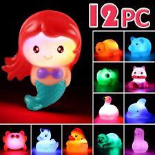 Baby Bath Toy Set Floating Animal Mermaid 12 Pcs Light Up Color Changing Toddler